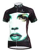 hesapli Erkek Kıravatları ve Papyonları-ILPALADINO Kadın's Kısa Kollu Bisiklet Forması - Beyaz / Siyah Bisiklet Forma, Hızlı Kuruma, Ultravioleye Karşı Dayanıklı, Nefes Alabilir