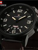 baratos Relógio Esportivo-Homens Relógio de Pulso Calendário / Impermeável Couro Banda Amuleto Preta / Prata / Marrom / Aço Inoxidável