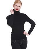 olcso Női pulóverek-Női Hosszú ujj Pulóver Egyszínű Körgallér