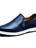 billige Herreblazere og jakkesæt-Herre Comfort Loafers Læder Forår / Efterår Komfort Tøfler & Slip-ons Skridsikker Sort / Brun / Blå