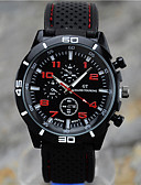 baratos Relógio Esportivo-Homens Relógio Esportivo / Relógio de Pulso Relógio Casual / Legal Silicone Banda Preta / Tianqiu 377