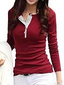 זול חולצות לנשים-אחיד יום יומי / סגנון רחוב כותנה, טישרט - בגדי ריקוד נשים