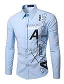 저렴한 남성 셔츠-남성용 한 색상 프린트-셔츠,클래식&타임레스