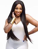 abordables Biquinis y Bañadores para Mujer-Pelucas sintéticas Recto Pelo sintético Peluca afroamericana Negro Peluca Mujer Larga Sin Tapa Negro
