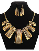 cheap Fashion Belts-Women's Jewelry Set Earrings / Necklace - Vintage / Party / Work Geometric Gold Jewelry Set For