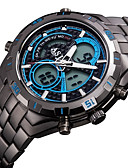 cheap Men's Watches-ASJ Men's Wrist Watch Japanese Quartz 30 m Water Resistant / Water Proof Alarm Calendar / date / day Stainless Steel Band Analog-Digital Luxury Black - Black Orange Blue Two Years Battery Life / LCD