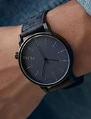 abordables Relojes de Vestir-Hombre Reloj de Pulsera Gran venta PU Banda Encanto Negro / Acero Inoxidable / KC 377A