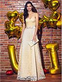 preiswerte Hochzeitskleider-Eng anliegend Sweetheart Boden-Länge Spitze Cocktailparty / Abiball / Formeller Abend Kleid mit Schleife(n) / Spitze durch TS Couture®