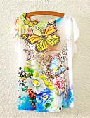 halpa T-paita-Naisten Puuvilla Kukka Kukka Sievä T-paita