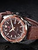 preiswerte Kleideruhr-Herrn Armbanduhr Kalender Leder Band Luxus Schwarz / Braun / Maxell2025 / Zwei jahr