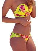 baratos Biquínis e Roupas de Banho Femininas-Mulheres Nadador Floral / Com Bojo Biquíni - Floral Calça / 2pçs / Verão / Feriado / Sexy