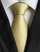 cheap Men's Ties & Bow Ties-Men's Luxury Grid Solid Creative Stylish