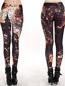 זול מכנסיים וחצאיות-צועד - צבעים מרובים הדפסה תגובתית ספורטיבי הדפס מותן בינוני בגדי ריקוד נשים