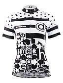 baratos Calcinhas-ILPALADINO Mulheres Manga Curta Camisa para Ciclismo - Preto / Preto com Branco Moto Camisa / Roupas Para Esporte, Secagem Rápida,