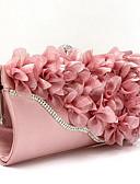 cheap Women's Sweaters-Women's Bags Chiffon Evening Bag Flower Silver / Fuchsia / Pink