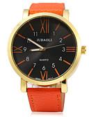 رخيصةأون ساعات موضة-JUBAOLI للرجال ساعة المعصم كوارتز عرض ساخن جلد فرقة مماثل سحر موضة أسود / الأبيض / أزرق - برتقالي أحمر أزرق / ستانلس ستيل
