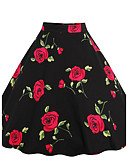 cheap Women's Skirts-Women's Going out A Line Skirts - Floral Print Jacquard