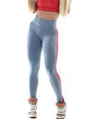 preiswerte Damen Leggings-Damen Mittel Baumwolle Solide Einfarbig Legging, Schwarz Grau Grün