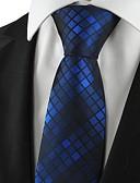 זול עניבות ועניבות פרפר לגברים-יצירתי מסוגנן פאר דוגמא משובץ (רשת) בגדי ריקוד גברים