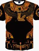 baratos Camisetas & Regatas Masculinas-Homens Camiseta - Esportes Boho Estampado Algodão Delgado / Manga Curta