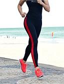 hesapli Kadın Pantolonl-Kadın's Pamuklu Spor Legging - Çizgili Yüksek Bel / Dar
