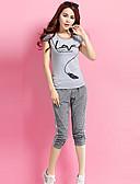 זול מכנסיים וחצאיות-Ruched קפלים, קולור בלוק טלאים - חולצה סט מידות גדולות בגדי ריקוד נשים