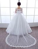 ieftine Bolerouri de Nuntă-Fără manșon Dantelă Tulle Nuntă Petrecere / Seară Wraps de nunta With Piatră Semiprețioasă Perle Dantelă Boleros