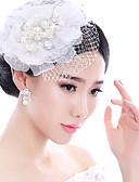 זול חגורות אופנתיות-פנינה / עור מפגשים / ביגוד לראש עם פרחוני 1pc חתונה / אירוע מיוחד כיסוי ראש
