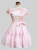 cheap Women's Dresses-Sweet Lolita Dress Cute Princess Women's One Piece Dress Cosplay Pink Blue Butterfly Short Sleeves
