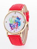 preiswerte Armband-Uhren-Damen Armbanduhr Schlussverkauf Leder Band Schmetterling / Modisch Weiß / Blau / Rot / Ein Jahr / Tianqiu 377