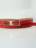 cheap Fashion Belts-Women's Party Active Basic Alloy Skinny Belt - Solid Colored