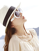 cheap Women's Hats-Women's Party Sun Hat - Patchwork / Cute / Beige / White / Brown / Spring
