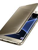 hesapli Cep Telefonu Kılıfları-Pouzdro Uyumluluk Samsung Galaxy S8 Plus / S8 / S7 edge Oto Uyu / Uyan / Kaplama / Ayna Tam Kaplama Kılıf Solid PC / Şeffaf
