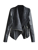 olcso Női blézer és dzseki-Női Extra méret Kožnate jakne - Egyszínű