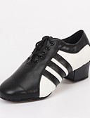 cheap Latin Dancewear-Men's Latin Shoes / Jazz Shoes Leatherette Sandal / Heel Lace-up Chunky Heel Customizable Dance Shoes Black / Indoor / Performance