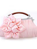 cheap Women's Swimwear & Bikinis-Women's Bags Satin Evening Bag Ruffles / Flower Red / Pink / Khaki