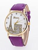 preiswerte Kleideruhr-Damen Armbanduhr Schlussverkauf PU Band Charme / Freizeit / Modisch Schwarz / Weiß / Rot / Ein Jahr / Jinli 377
