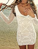 hesapli Kadın Mayoları-Kadın's Boyundan Bağlamalı Örtü Tek Parçalılar - Klasik Stil, Tek Renk Yandan Bağcıklı
