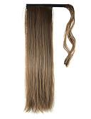 povoljno Muške košulje-S kopčom Ravan kroj Konjski repići Zamotajte sintetički Kose za kosu Ugradnja umetaka 24 inčni srednje smeđa