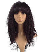 cheap Women's Nightwear-Synthetic Wig kinky Straight With Bangs Synthetic Hair Heat Resistant Black / Brown Wig Women's Long Lace Front