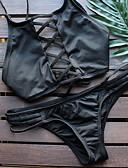 ieftine Cămașă-Pentru femei Dantelat Retro / Dantelat Halter Negru Verde Roz Bikini Costume de Baie - Mată S M L / Super Sexy