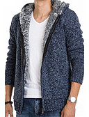 cheap Men's Sweaters & Cardigans-Men's Long Sleeve Cardigan - Solid Colored