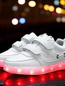 halpa T-paita-Tyttöjen Kengät PU Syksy Comfort / Välkkyvät kengät Urheilukengät Soljilla / LED varten Valkoinen / Musta / Pinkki