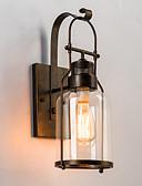 abordables Relojes Militares-Rústico / Campestre Lámparas de pared Metal Luz de pared 220v / 110V 60W