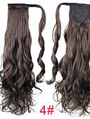 hesapli Nedime Elbiseleri-Klipsli At Kuyrukları Sentetik Saç Saç Parçası Ek saç Bukle