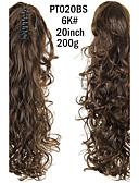 baratos Macacões & Macaquinhos-Rabos-de-Cavalo Cabelo Sintético Pedaço de cabelo Alongamento Encaracolado