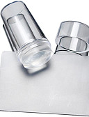 billige Kjoler i plus størrelser-2 pcs Nail DIY Tools Stempling plade Skabelon Moderigtigt Design Negle kunst Manicure Pedicure Stilfuld / Rund / Kvadrat-formet / Stempling Plate
