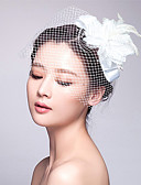 cheap Party Headpieces-Tulle / Fabric Fascinators with 1 Wedding / Special Occasion Headpiece