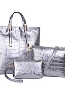 Χαμηλού Κόστους Φορέματα για τη Μητέρα της Νύφης-Γυναικεία Τσάντες PU Σετ τσάντα 3 σετ Σετ τσαντών Μονόχρωμο Χρυσό / Μαύρο / Ασημί / Τσάντα Σετ