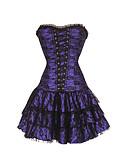 זול מחוכים-בגדי ריקוד נשים קשירת רצועות בד שמלת מחוך - סרוג